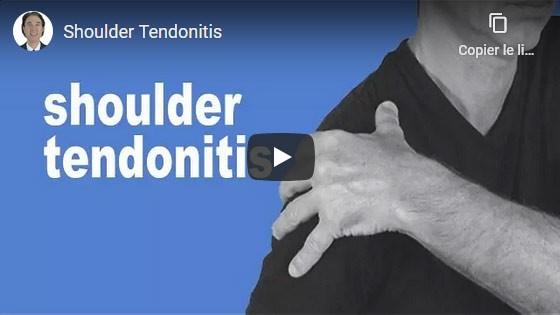 Comment guérir la tendinite de l'épaule?