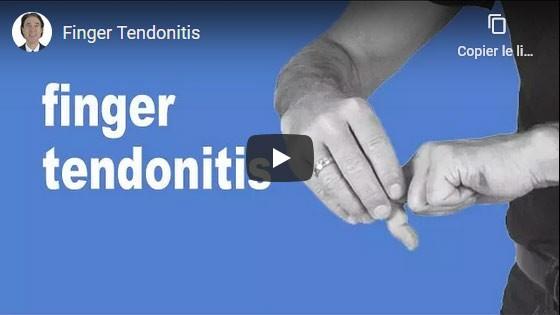 Comment guérir la tendinite des doigts?